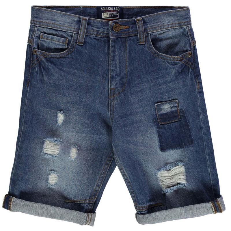 Kraťasy SoulCal Patch Shorts Junior Boys Mid Blue