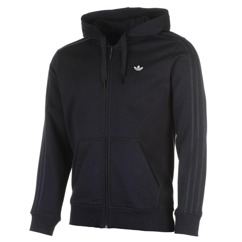 Mikina adidas Originals Trefoil Full Zip Hoodie Legend Ink