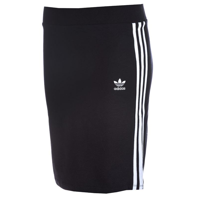 Sukně Adidas Originals Womens 3-Stripes Midi Skirt Black