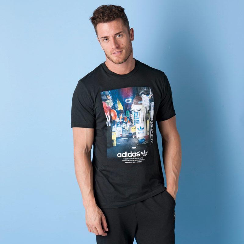 Tričko Adidas Originals Mens Street Photo T-Shirt White