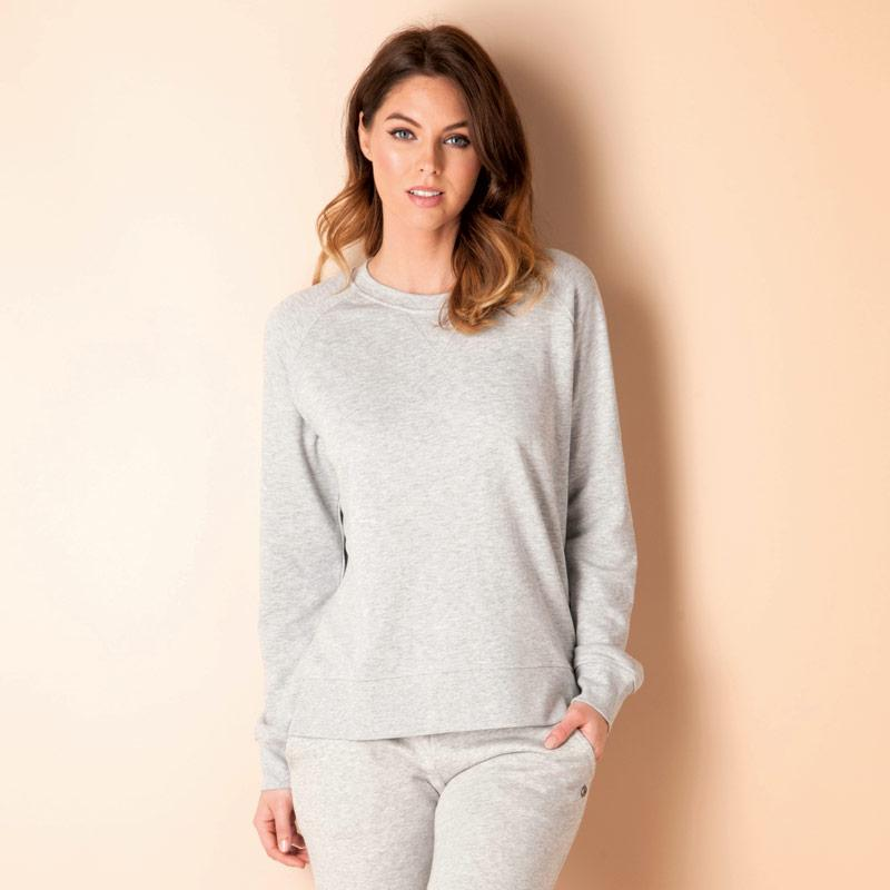 Mikina Only Womens Lotus Marl Sweatshirt Light Grey