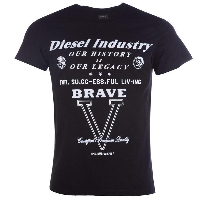 Tričko Diesel Mens Cl-T-Fracas T-Shirt Black