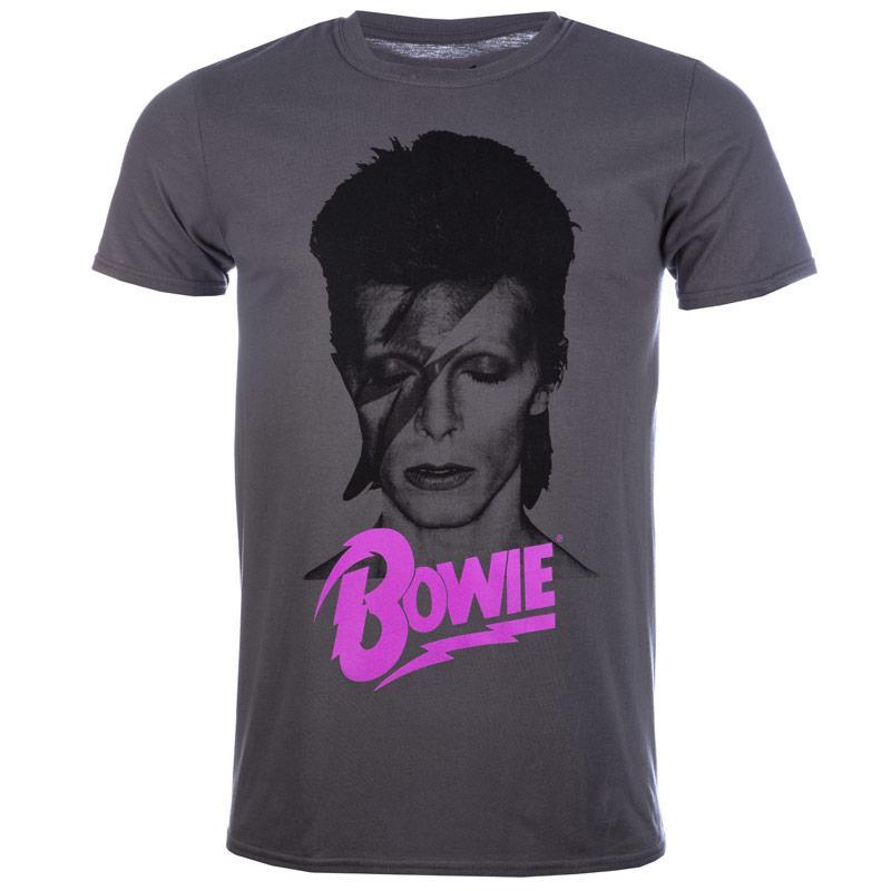 Tričko Mens David Bowie Aladin T-Shirt Charcoal, Velikost: S