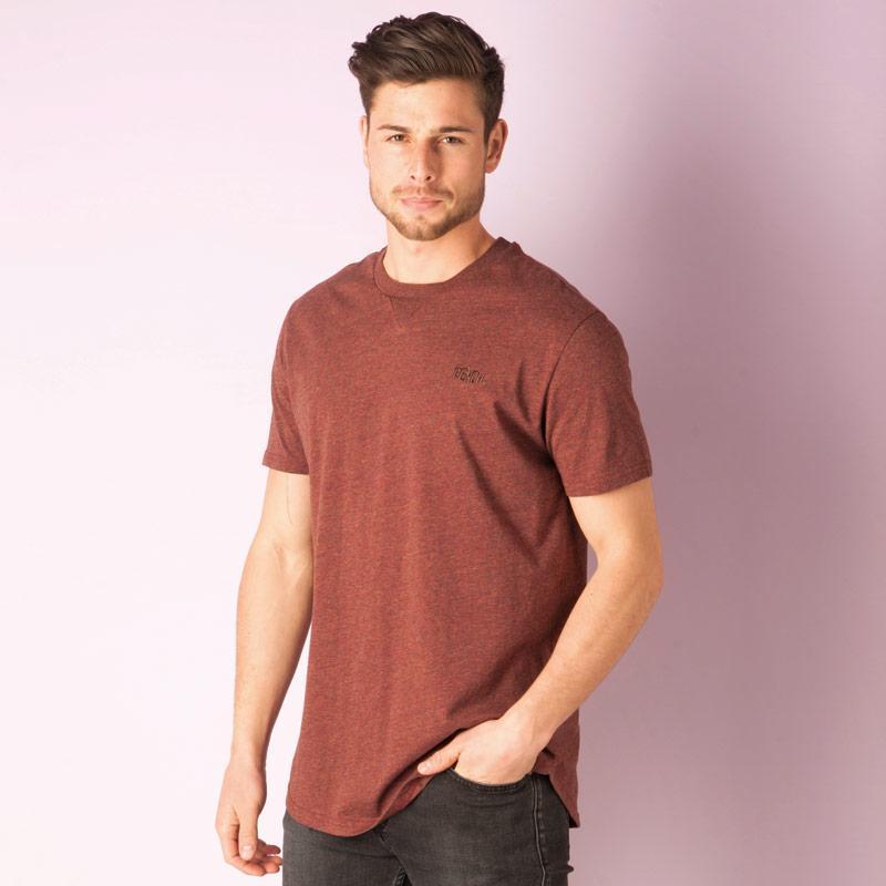 Tričko Bench Mens Hermit T-Shirt Burgundy