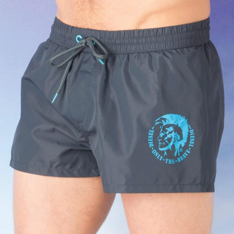 Kraťasy Diesel Mens Sandy-E Swim Shorts Grey