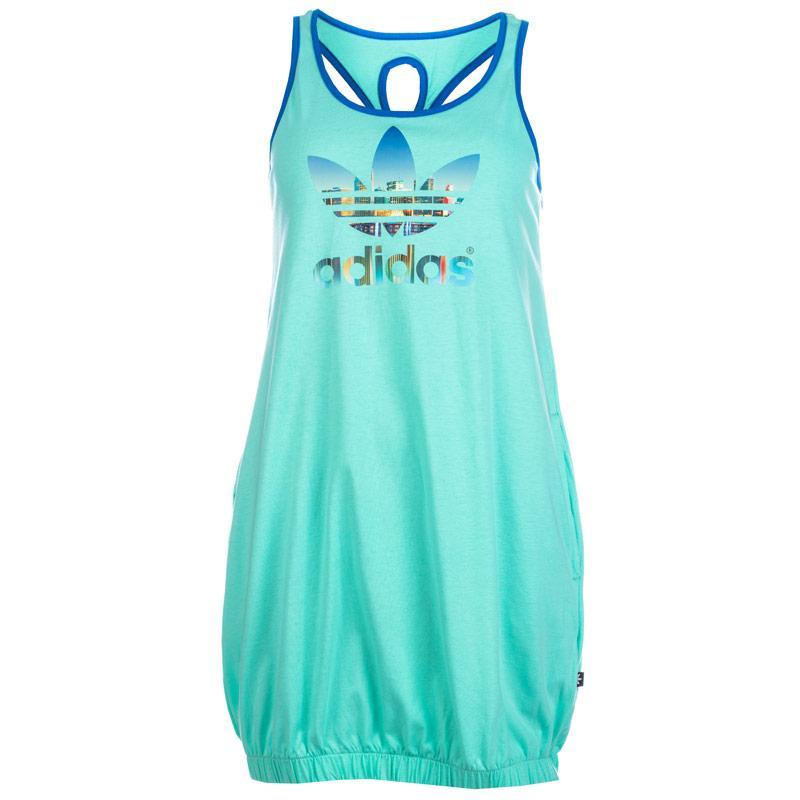 Šaty Adidas Originals Womens Trefoil Dress Mint, Velikost: 10 (S)