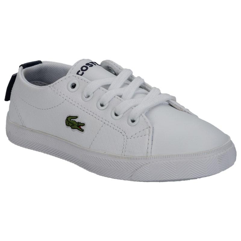 Boty Lacoste Children Boys Marcel Trainers White blue