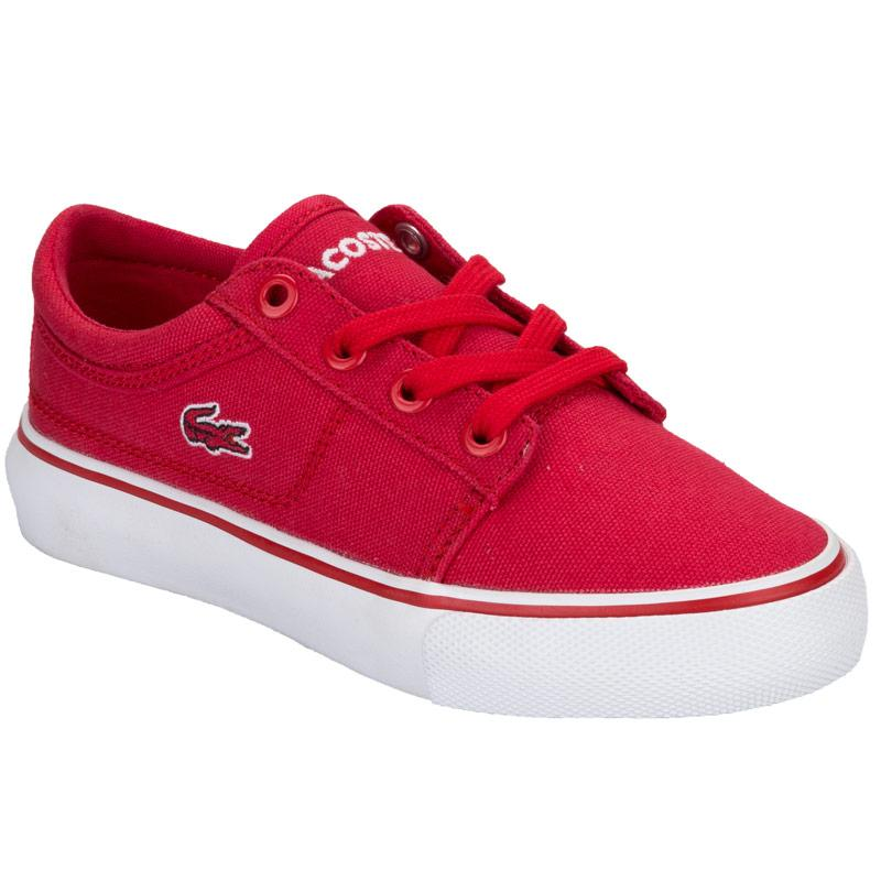 Boty Lacoste Children Boys Vaulstar Trainers Red, Velikost: 10 (S)