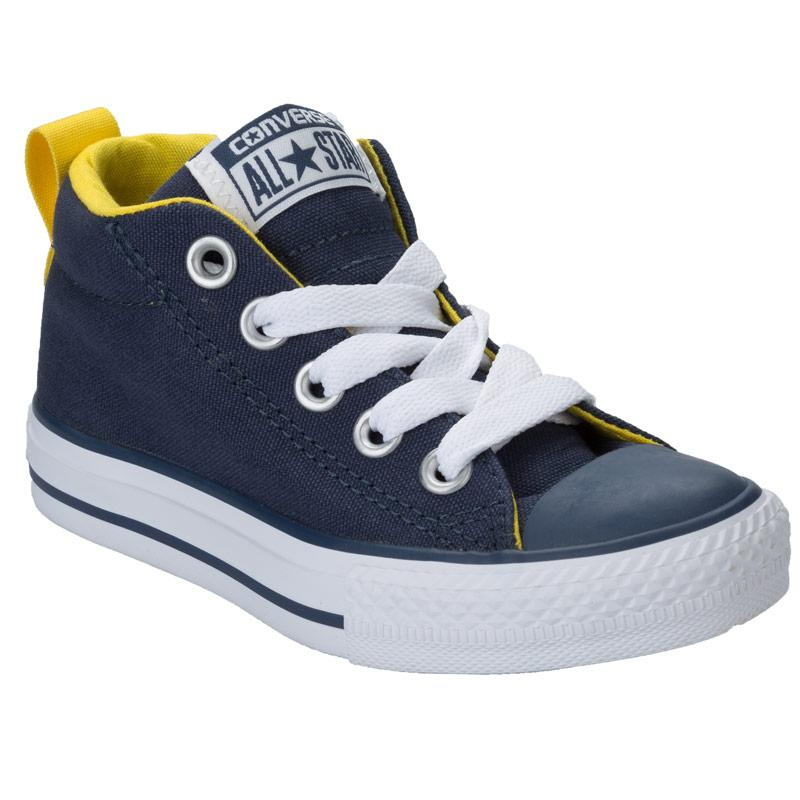 Boty Converse Childrens Boys CT Street Mid Trainers Navy