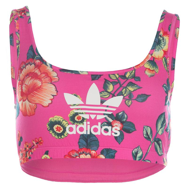 Adidas Originals Womens Jardineto Bra Top Multi colour