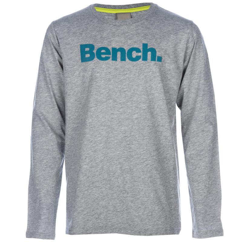 Tričko Bench Junior Boys Stand Graphic T-Shirt Grey