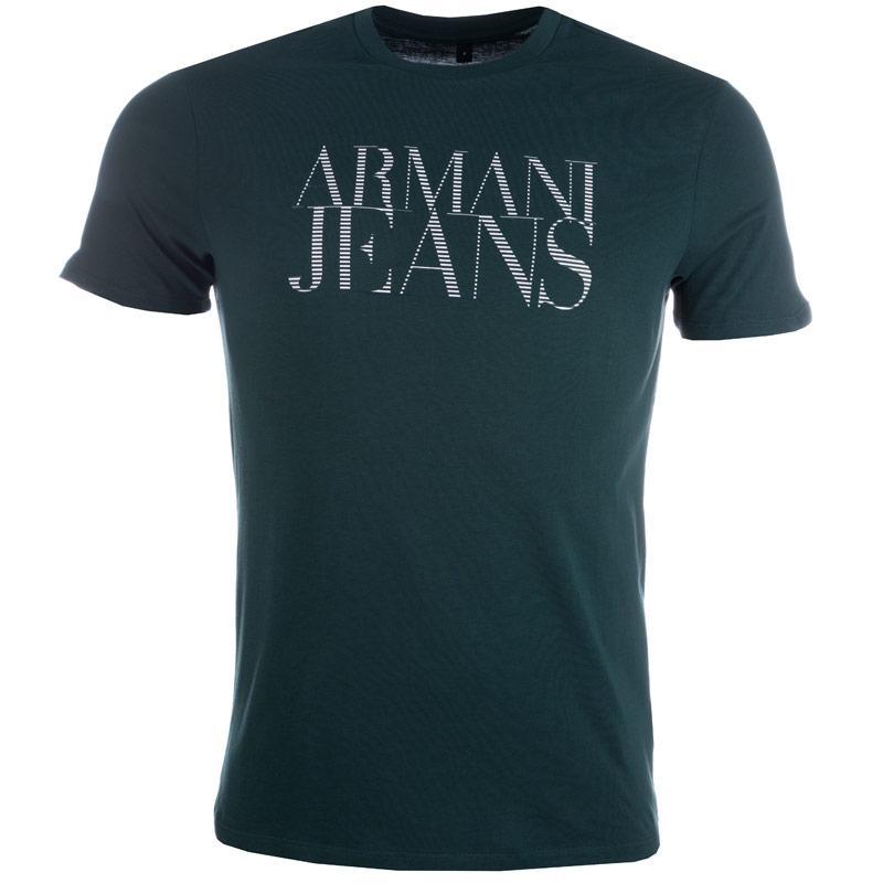 Tričko Armani Mens Print T-Shirt Green, Velikost: L