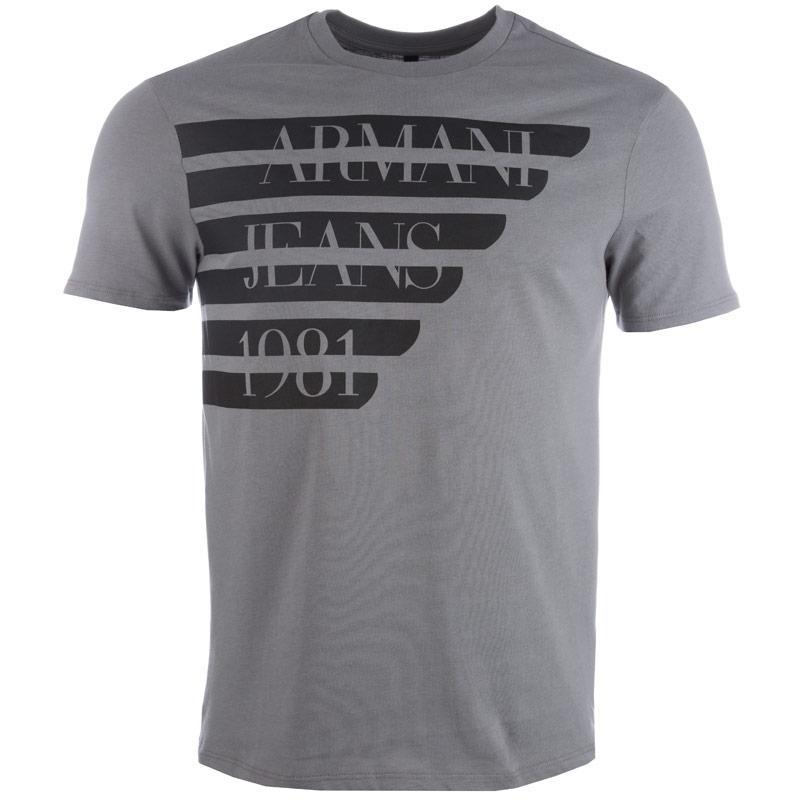 Tričko Armani Mens Print T-Shirt Grey, Velikost: S