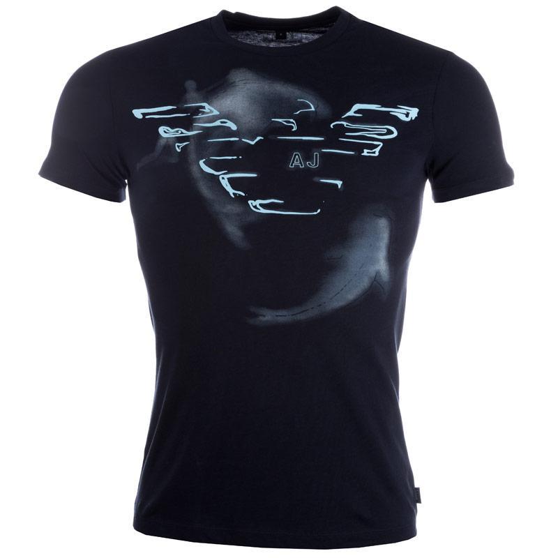 Tričko Armani Mens Print T-Shirt Navy, Velikost: L