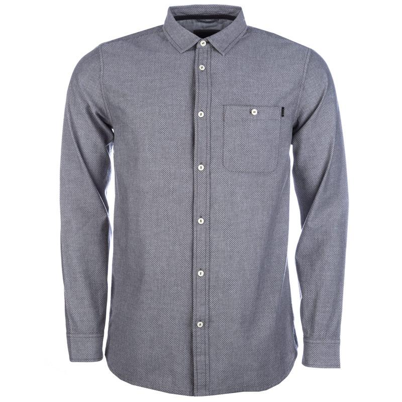 Košile Bench Mens Notes Button Shirt Grey
