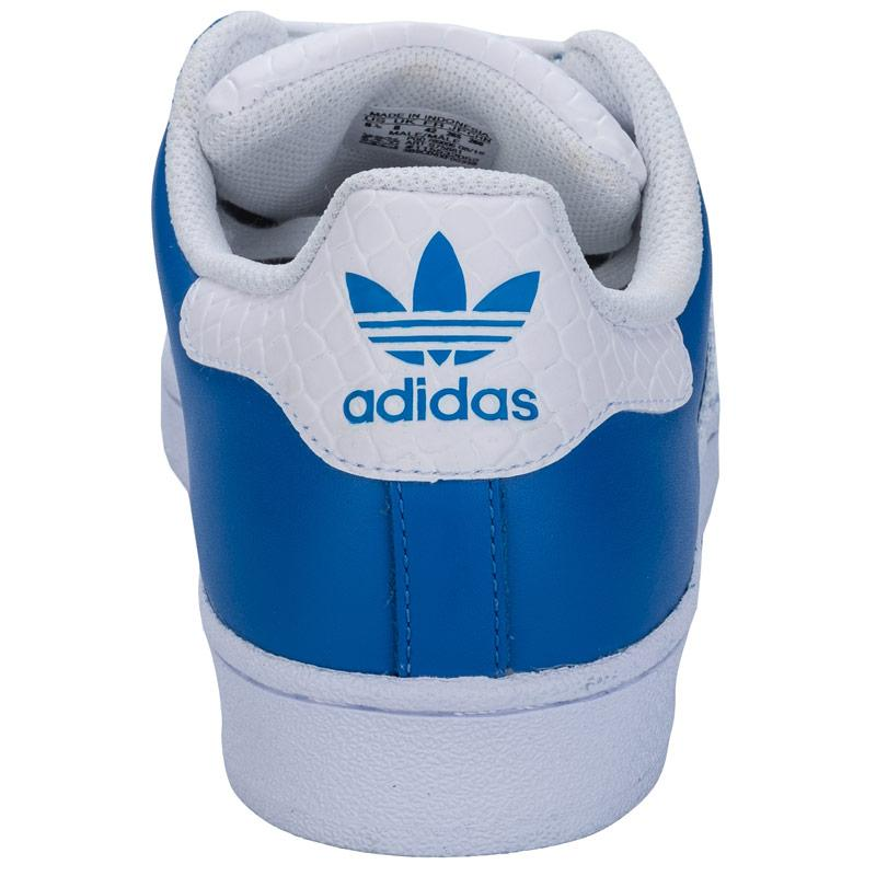 Boty Adidas Originals Mens Superstar Trainers Blue, Velikost: 12 (M)