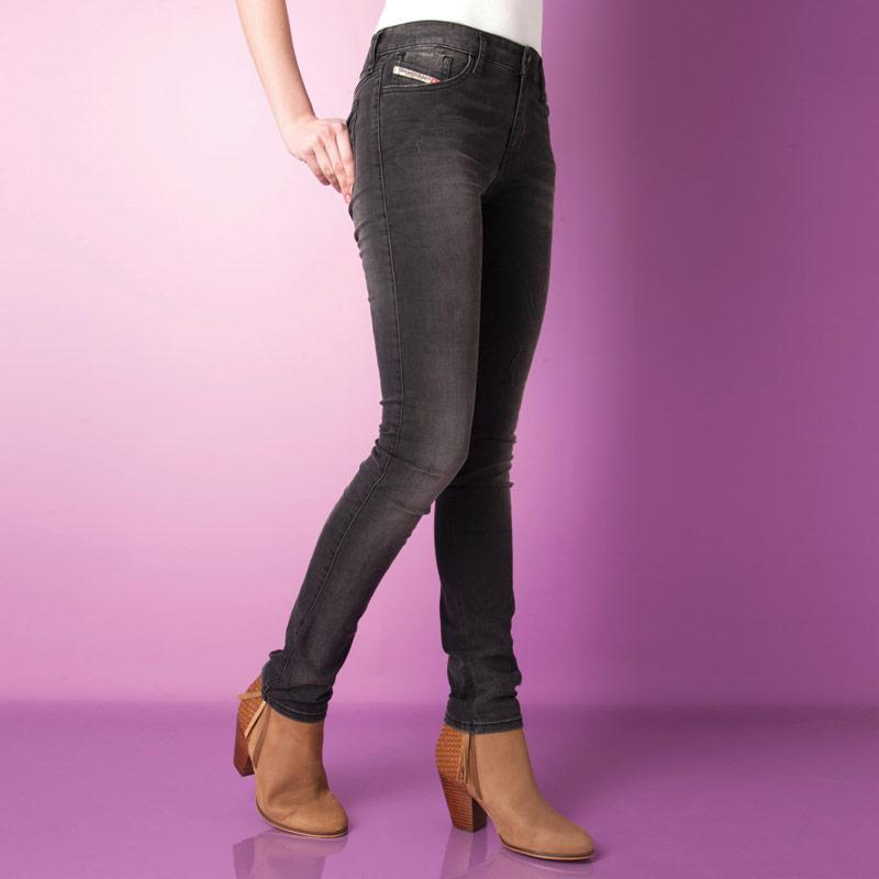 Diesel Womens Skinzee Skinny Jeans Black