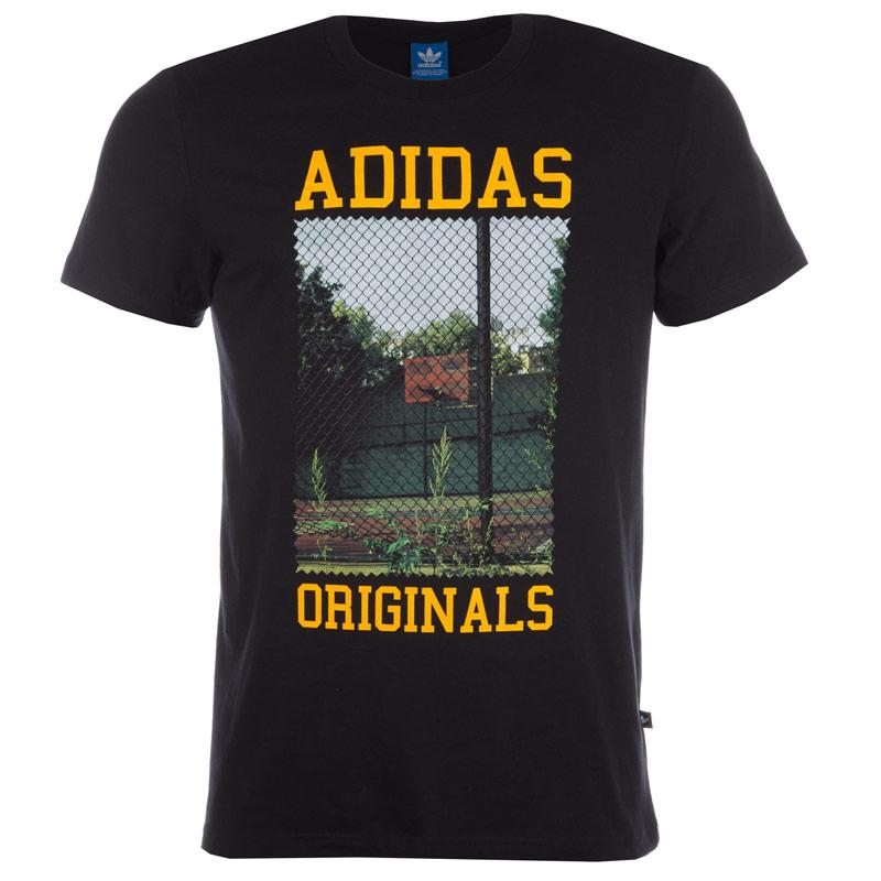 Tričko Adidas Originals Mens Court Photo T-Shirt Black