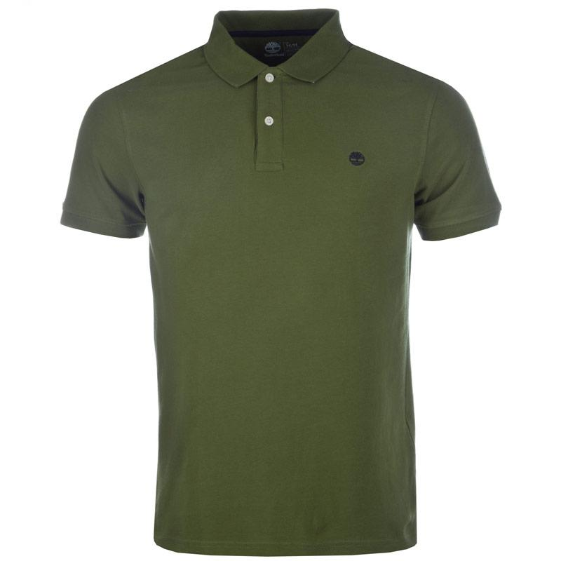 Timberland Mens SS Kennebec River Brush Polo Shirt Green