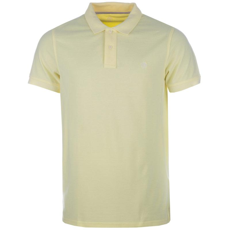 Timberland Mens SS Millers River Polo Shirt Lemon