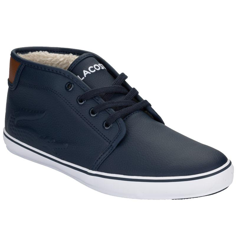 Boty Lacoste Junior Boys Ampthill Chunky Trainers Dark Blue
