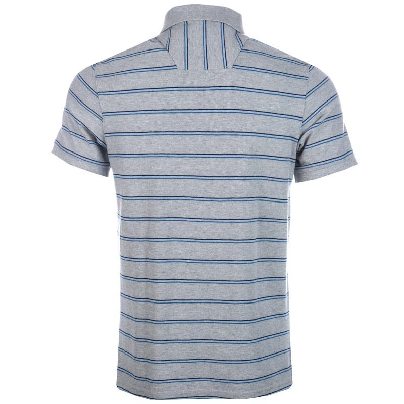 Timberland Mens Millers River Striped Polo Shirt Grey