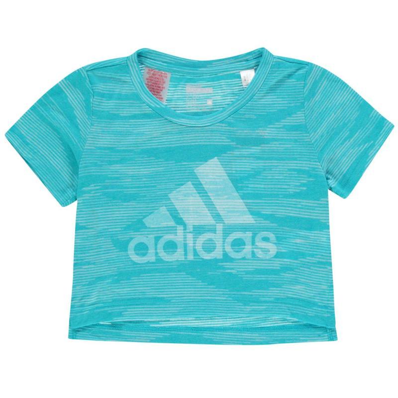adidas AeroKnit T Shirt Junior Girls Energy Blue