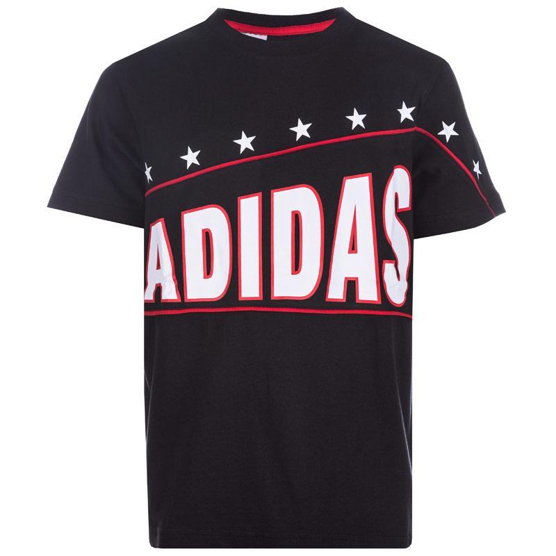 Tričko Adidas Junior Boys FR Logo T-Shirt Black, Velikost: 9-10 let (MB)