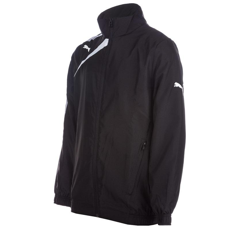 Bunda Puma Junior Boys Spirit Woven Jackets Black