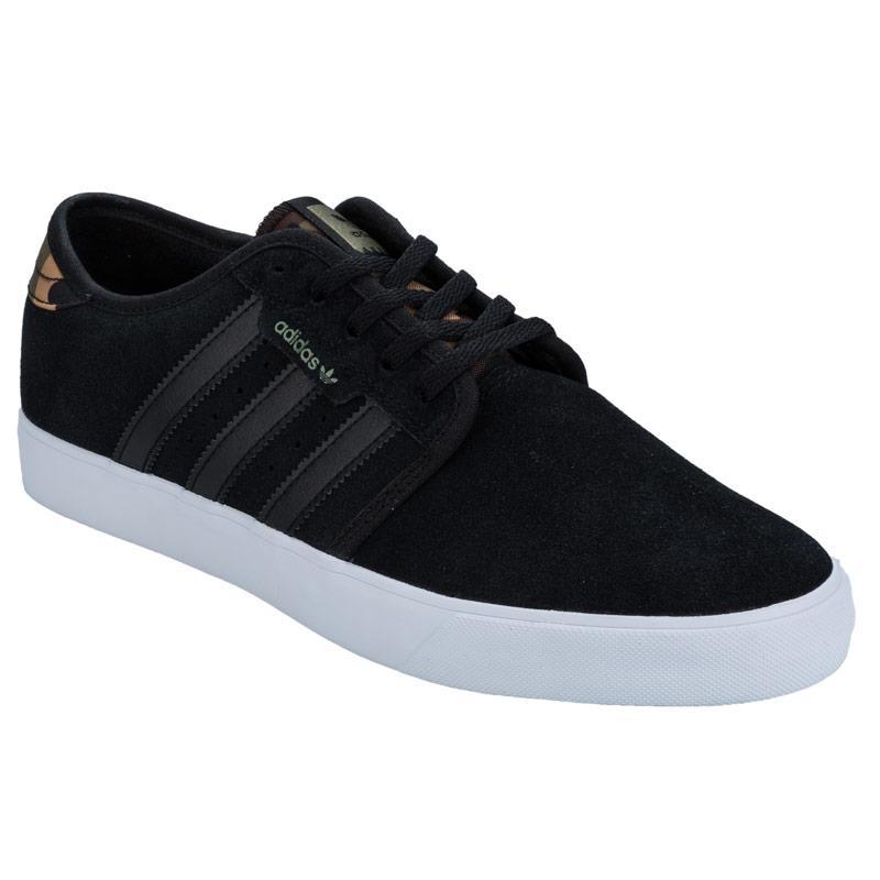 Boty Adidas Originals Mens Seeley Trainers Black, Velikost: 8 (XS)
