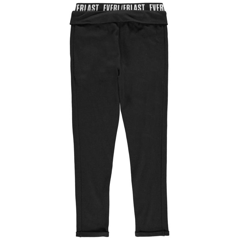 Everlast Open Hem Inter lock Sweat Pants Junior Girls Grey Marl