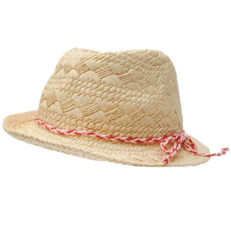 Crafted Ditsy Trilby Child Girls Natural