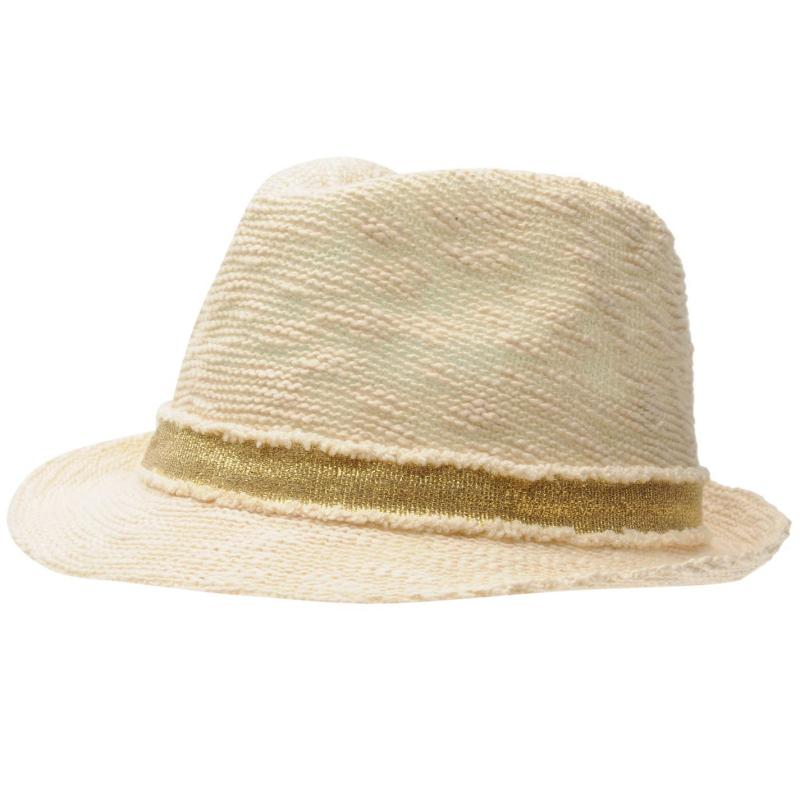Crafted Gold Trilby Child Girls Gold