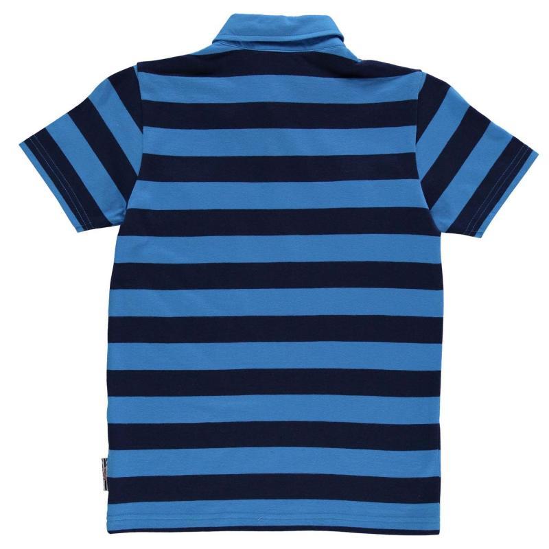 Lee Cooper YD Stripe Polo Shirt Junior Boys Navy/Blue