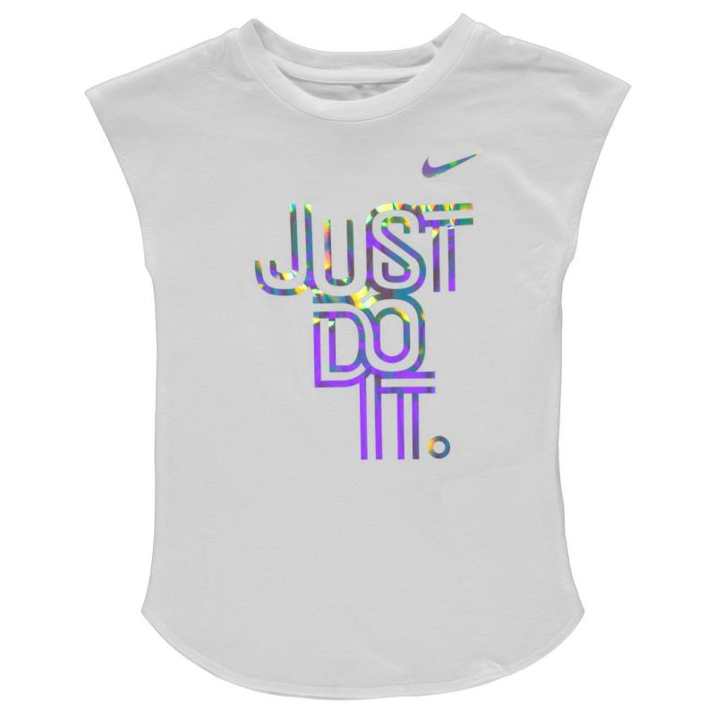Nike Just Do It Iridescent T Shirt Infant Girls Hyper Pink
