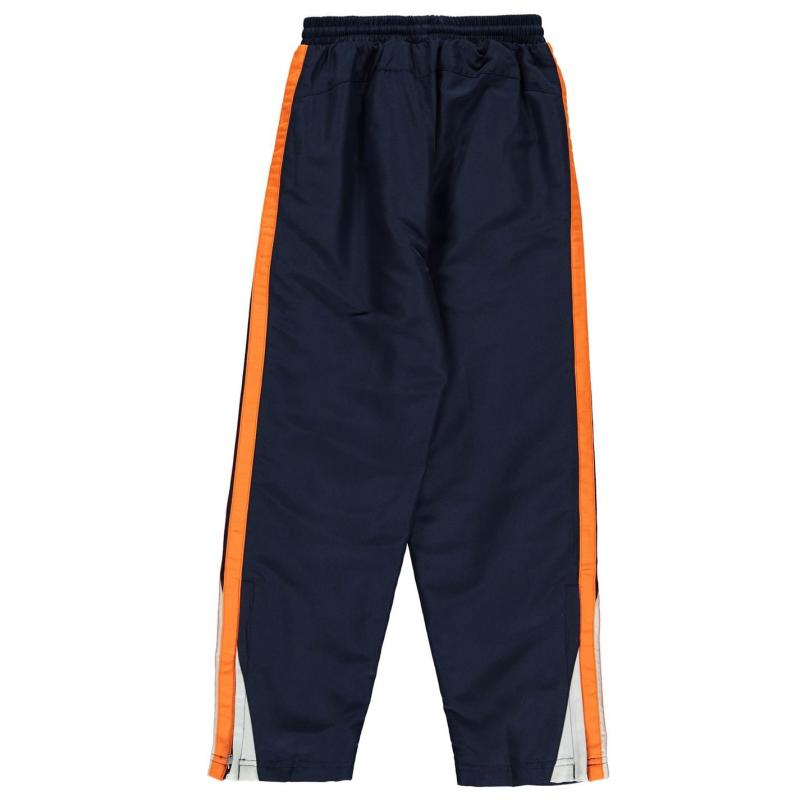 Tepláky Lonsdale Two Stripe Open Hem Woven Pants Junior Boys Blk/BrBlue/Wht