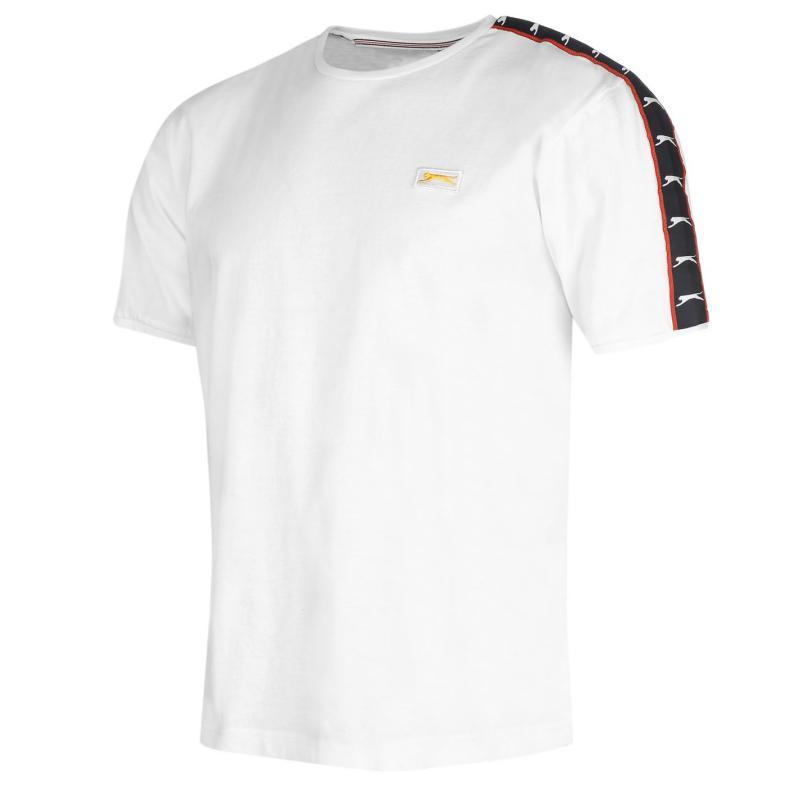 Tričko Slazenger Taped Retro T Shirt Mens White