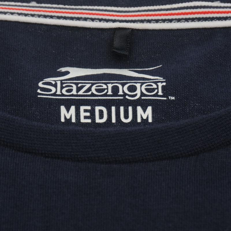 Tričko Slazenger Taped Retro T Shirt Mens Navy