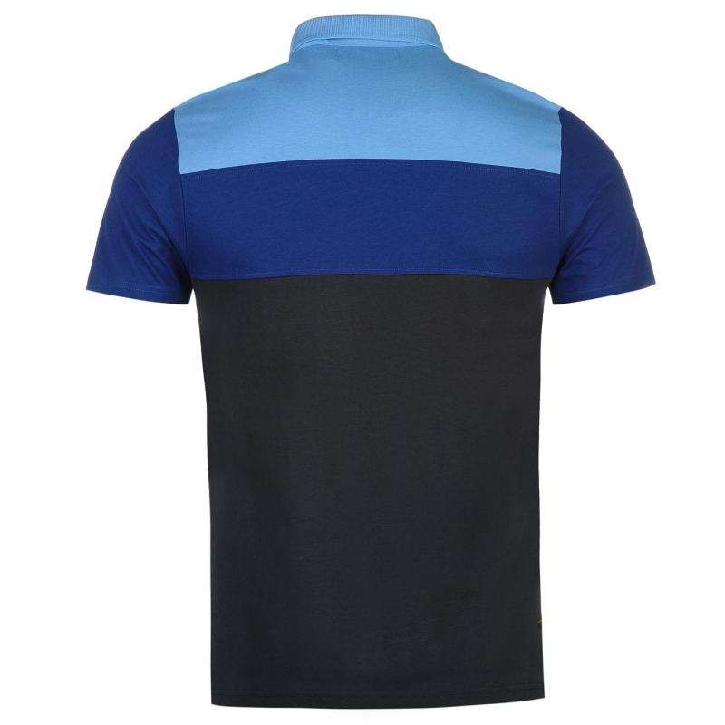 Kangol Colour Stripe Polo Shirt Mens Nvy/Blu/LtBlu