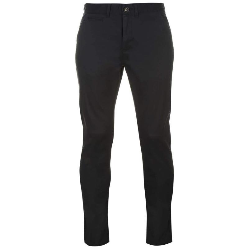 Kalhoty Pierre Cardin Slim Fit Trousers Mens Black