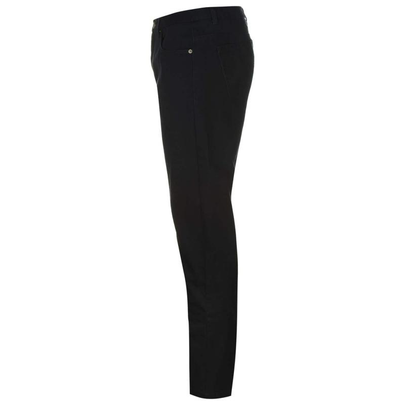 Kalhoty Pierre Cardin Twill Trousers Mens Black