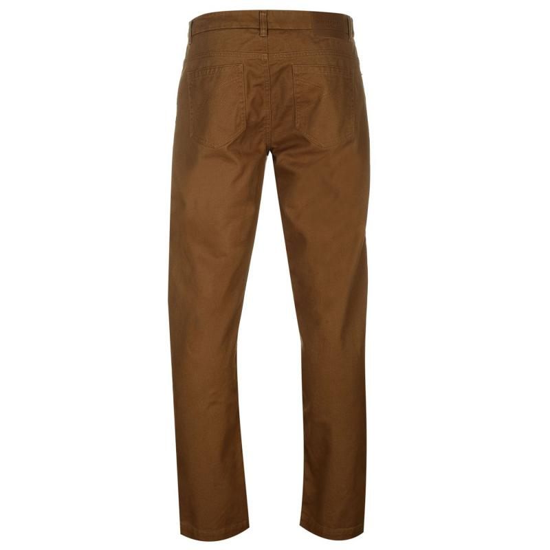 Kalhoty Pierre Cardin Twill Trousers Mens Tobacco