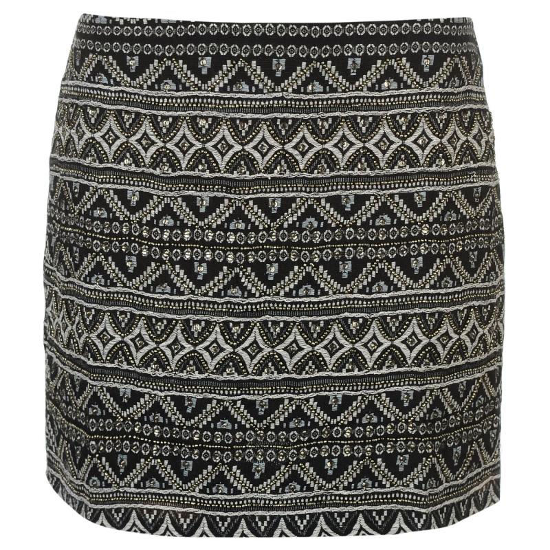 Šortky Rock and Rags Beaded Mini Skirt Navy