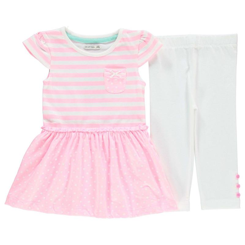 Šaty Crafted Dress and Leggings Set Infant Girls Multi (Summer)