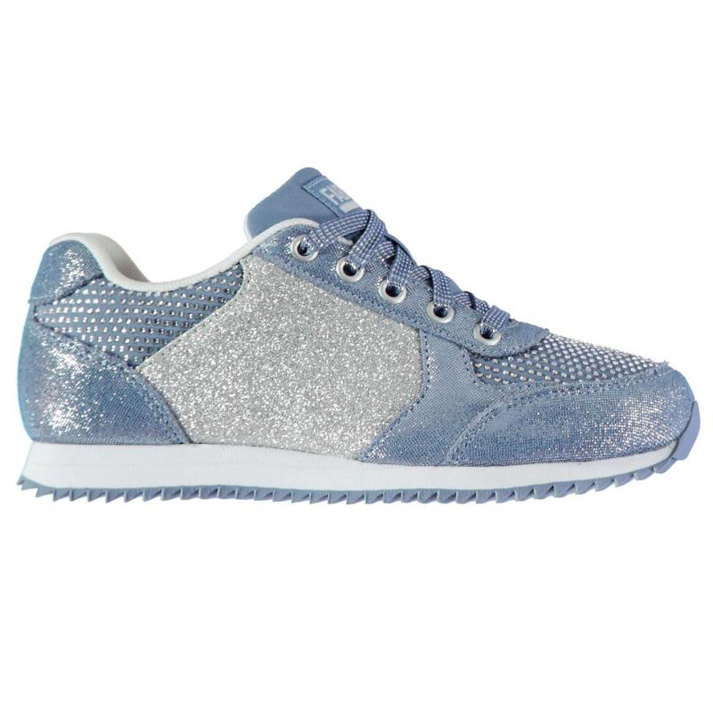 Fabric Retro Runner Childs Trainers Navy/Blue Ombre
