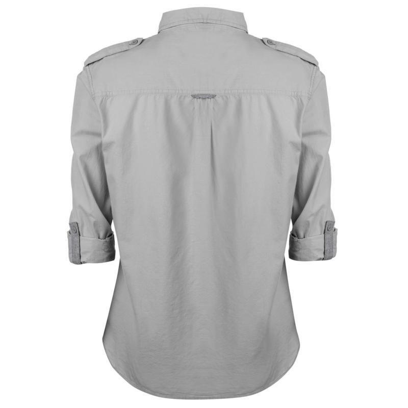 Košile Lee Cooper Long Sleeve Fashion Shirt Mens Green/Navy/Whte