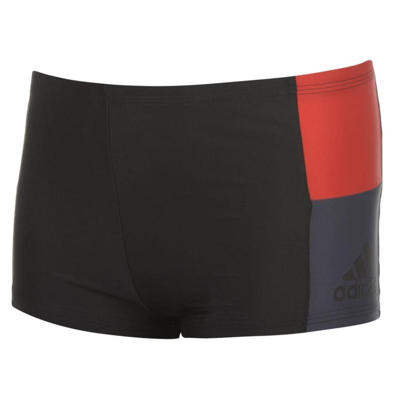 Plavky adidas Swimming Boxers Junior Blk/Blk/Scarlet