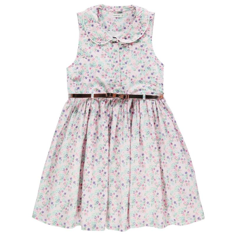 Šaty Crafted Belted Dress Child Girls AOP Floral