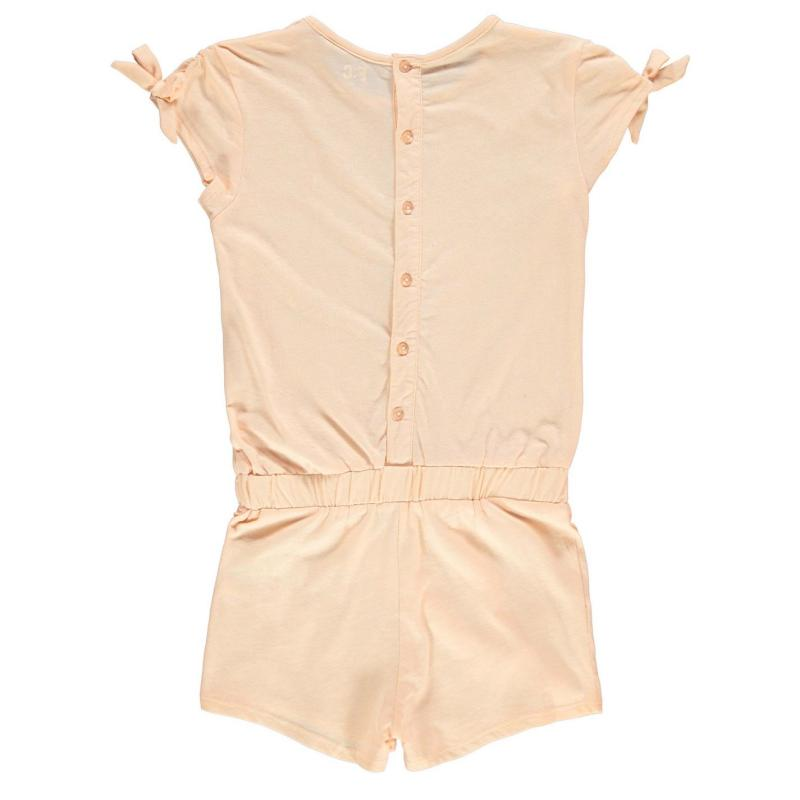 Šaty French Connection Bow Playsuit Apricot Spritz