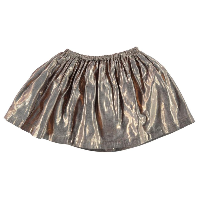 Šaty French Connection Metallic Skirt Gold Metallic